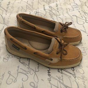 womens Eastland sunrise leather boat shoes